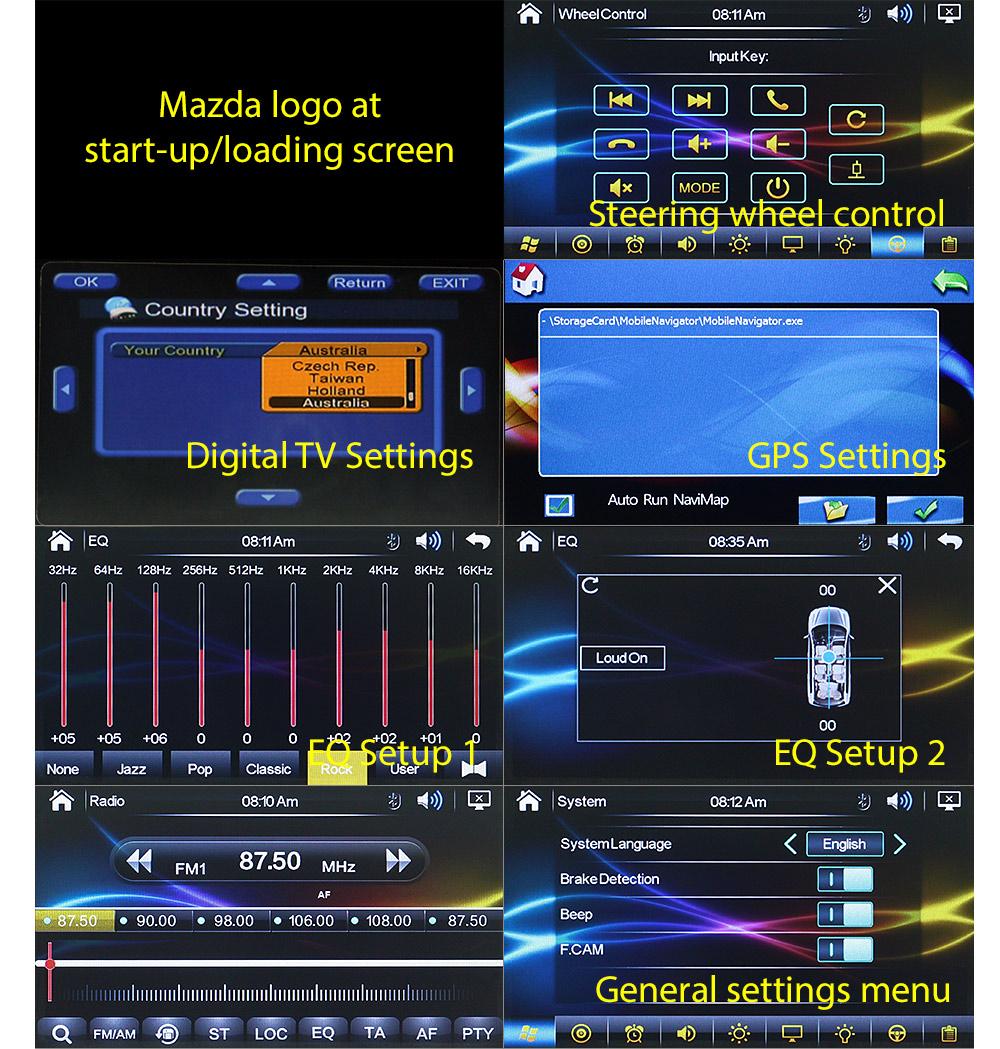 7 U0026quot  Mazda 3 Bk Car Dvd Gps Dvb