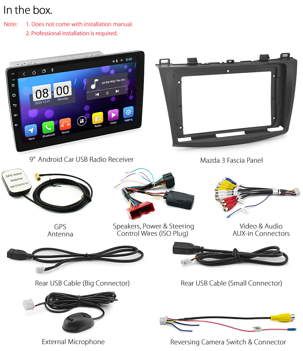 """9"""" Android Car MP3 Player For Mazda 3 BL 2010-2013 Radio ..."""