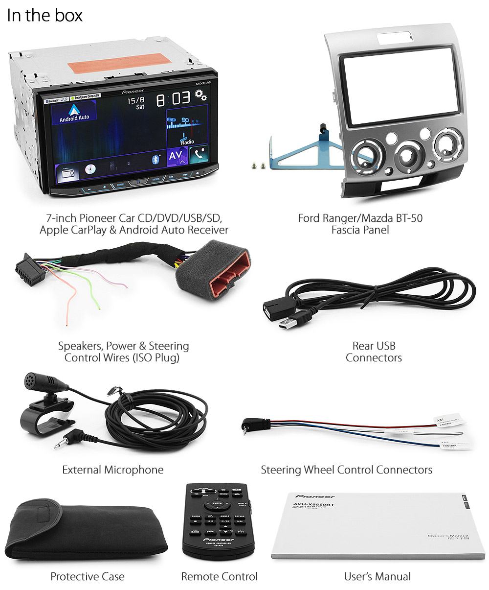 Apple Carplay Dvd Player Ford Ranger Pj Pk 2006 2011 Mp3