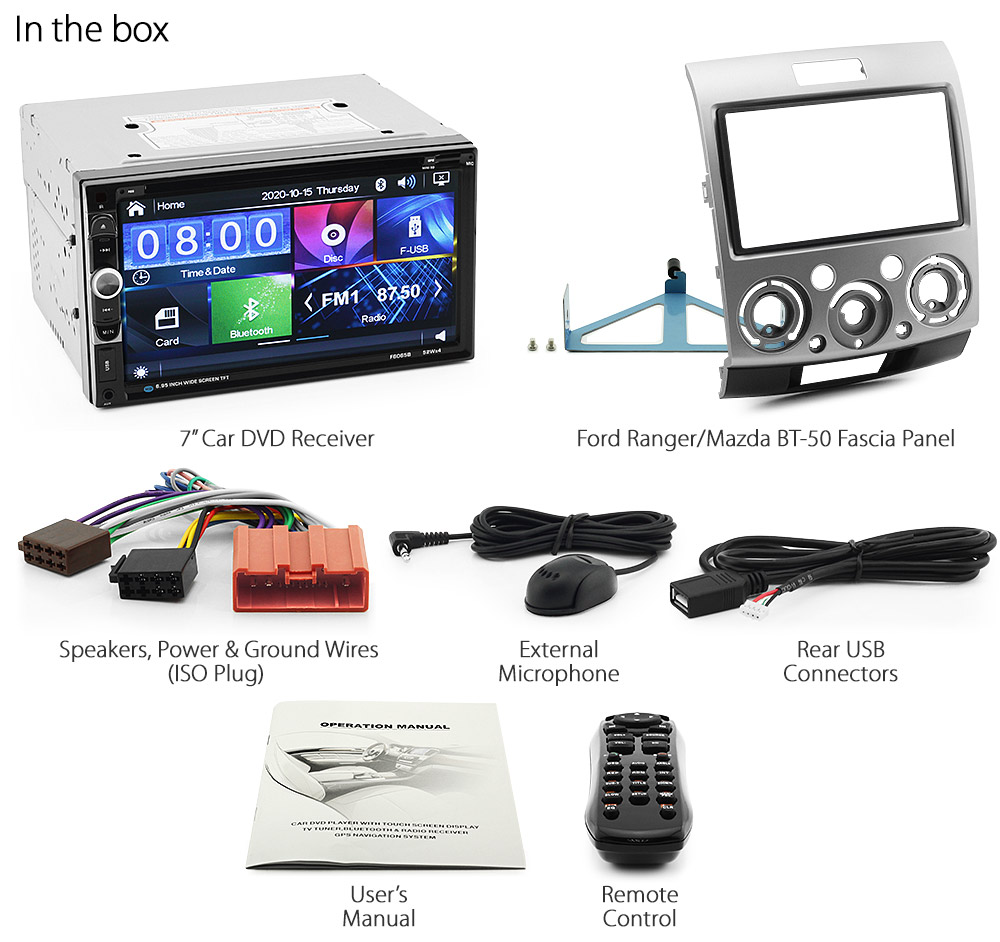 car dvd radio for ford ranger mazda bt 50 player stereo. Black Bedroom Furniture Sets. Home Design Ideas