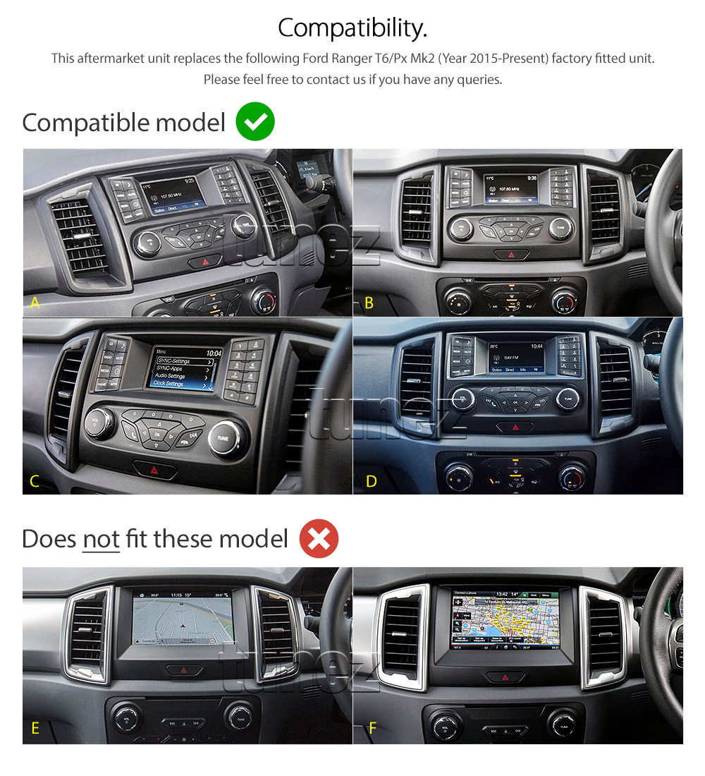 New Android Car Mp3 Player Ford Ranger T6 Px Mk2 Stereo