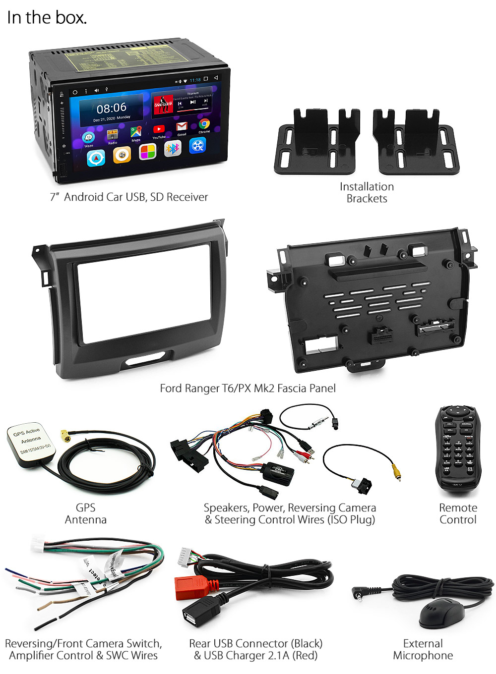 Android Car Mp3 Player For Ford Ranger T6 Px Mk2 Radio