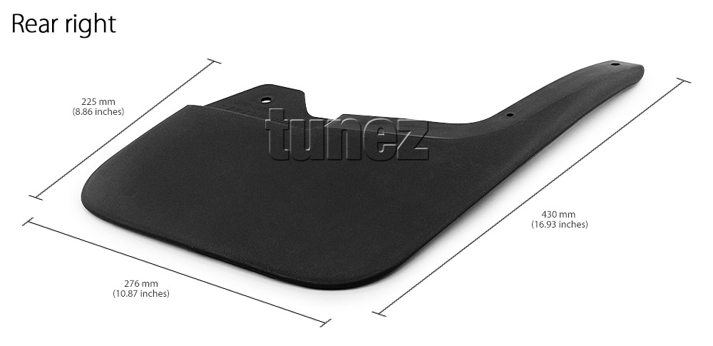 Front Rear Mud Flap Splash Guard Isuzu D-Max Double Dual Cab RT50 RT85 DMax OZ