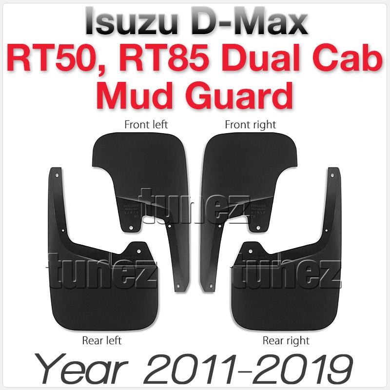 Front Rear Mud Flap Splash Guard Isuzu D-Max Double Dual Cab RT50 RT85 DMax OZ