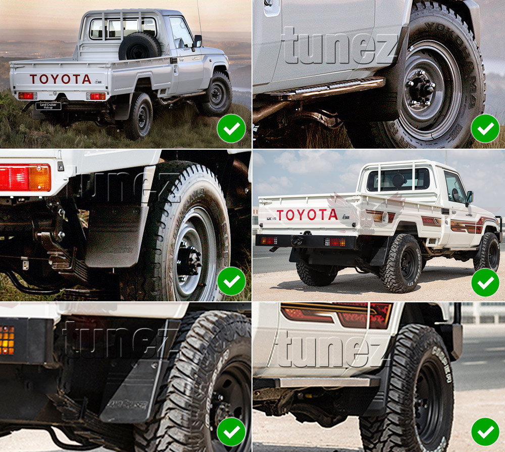 oem mudguard mud flap splash guard toyota landcruiser. Black Bedroom Furniture Sets. Home Design Ideas