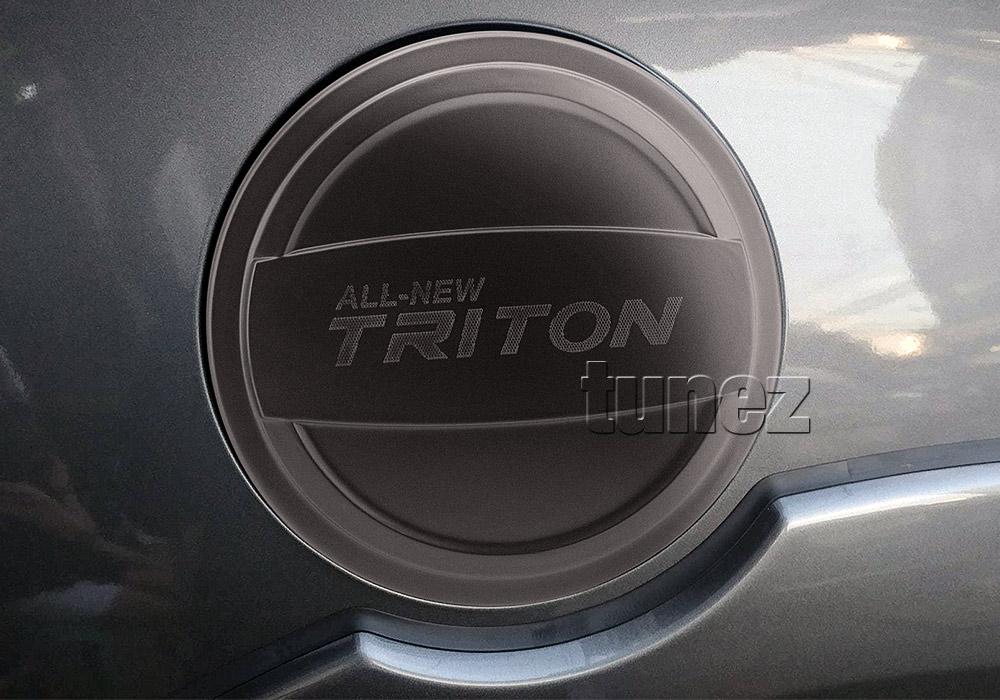 Fuel Gas Petrol Tank Door Matte Black Cover For Mitsubishi Triton MQ 2015-2018 Z
