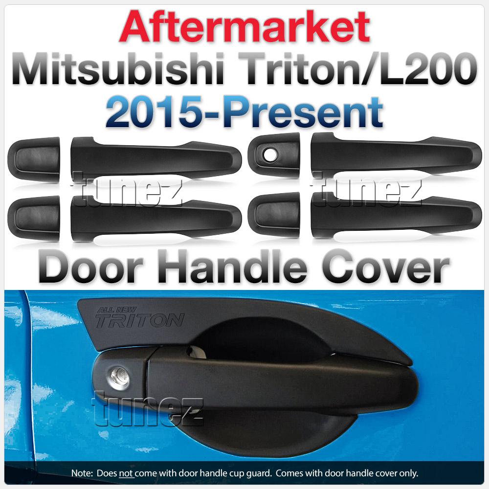 Matt Manual Remote Key Door Handle Cover Guard For Mitsubishi Triton MQ MR