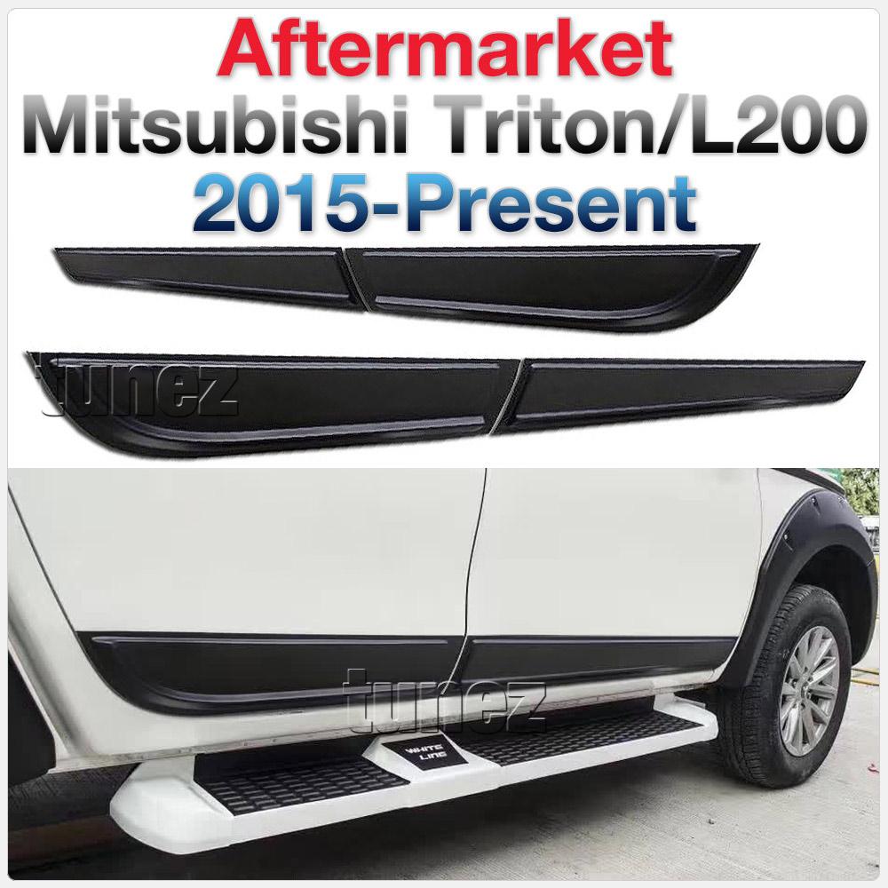 Door Guard Side Panel Protector Cladding Mitsubishi Triton MQ MR GLX GLS GLX+ OZ