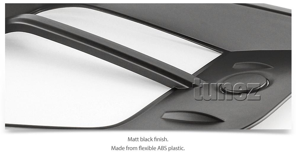 Matte Black Front Fog Light Lamp Cover For Mitsubishi Triton MR 2019 2020 GLX OZ
