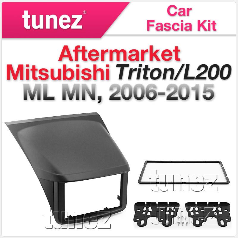Mitsubishi Triton L200 2006-2015 ML MN Fascia Facia Kit Double-DIN Dash Panel OZ
