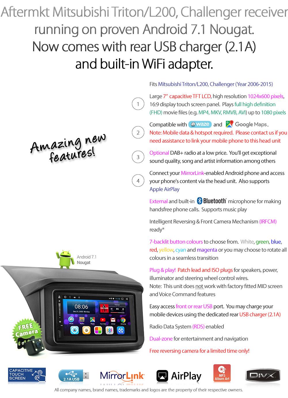 Android Car Mp3 Player Mitsubishi L200 Triton 2006