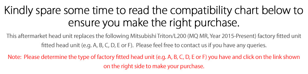 MTR07 MTR08 AND GPS Mitsubishi Triton L200 MQ MR 5th Generation Gen 2015 2016 2017 2018 2019 2020 GLX GLS Premium ADAS Exceed Barbarian X Titan Warrior Challenger 4 Life Super Large 9-inch 9