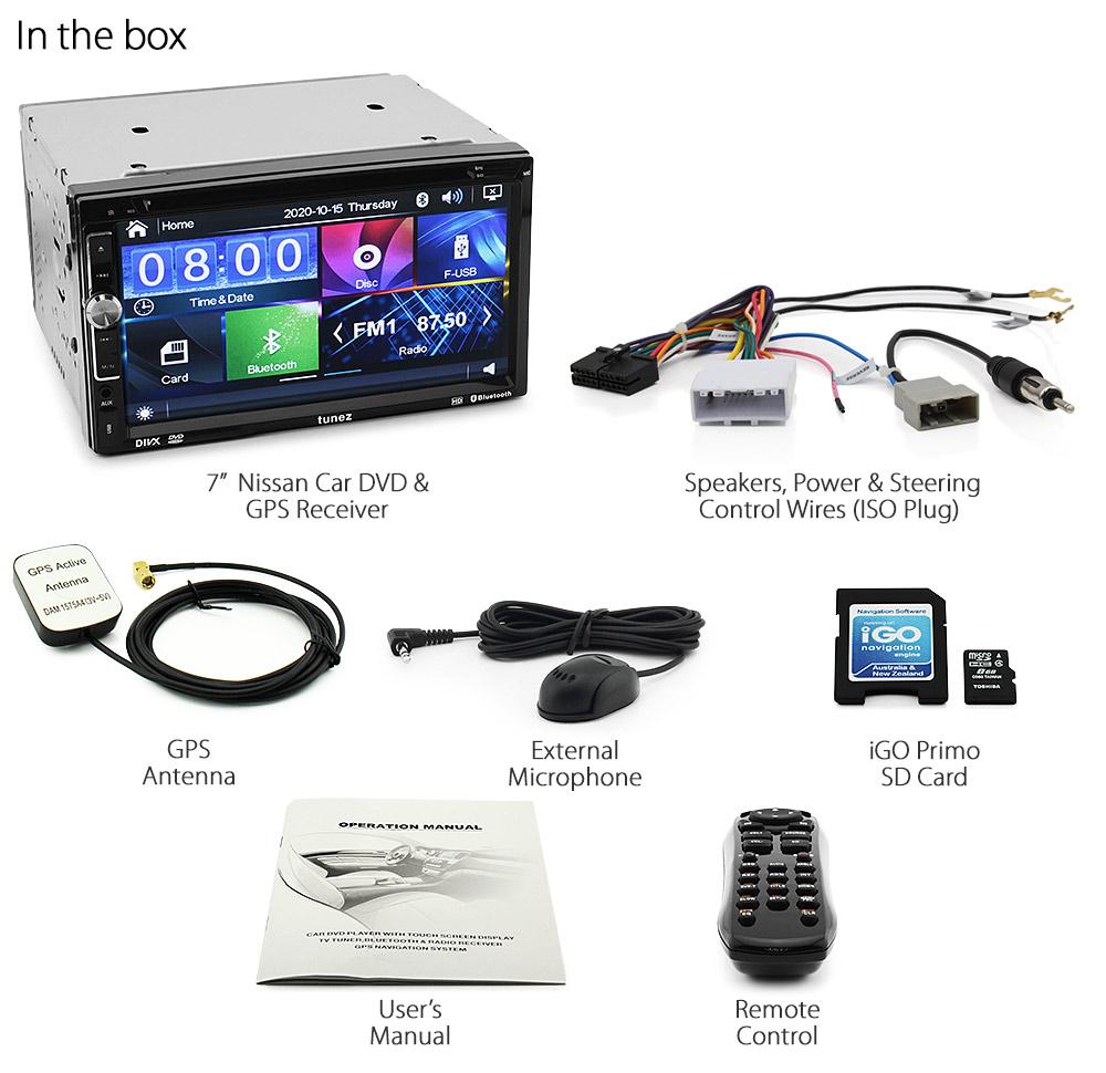 Car Dvd Gps Player Sat Nav Stereo For Nissan Navara D40