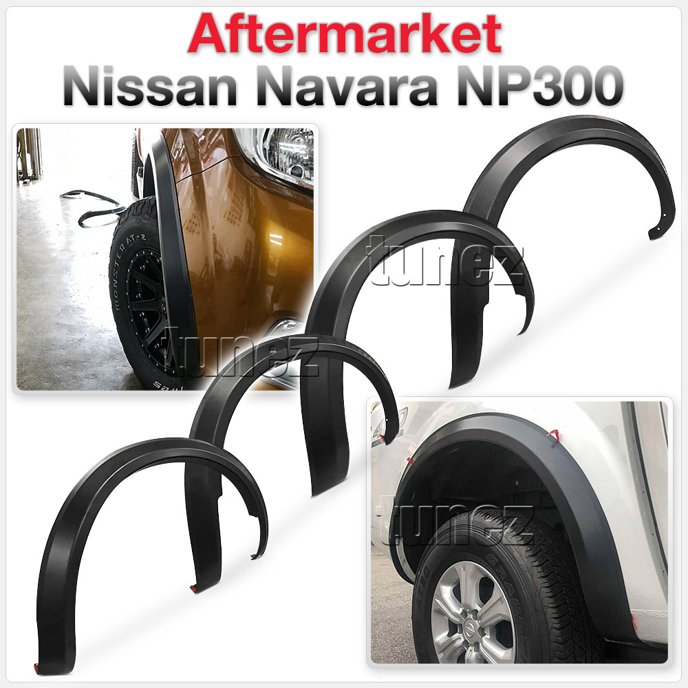 4 Pcs Set Wheel Arch Fender Flare Slim Matte Black For Nissan Navara NP300 D23 Z