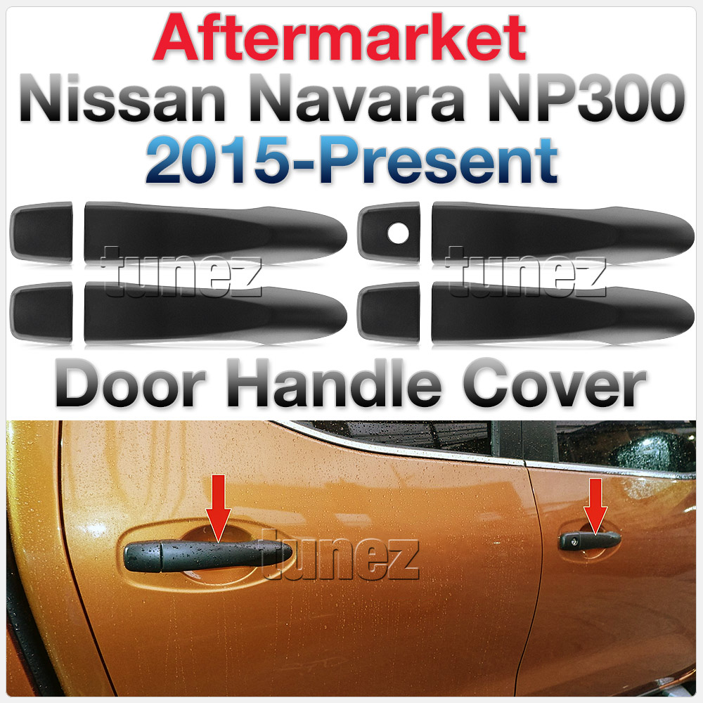 Matte Matt Remote Manual Door Handle Cover For Nissan Navara NP300 D23 Tunez OZ