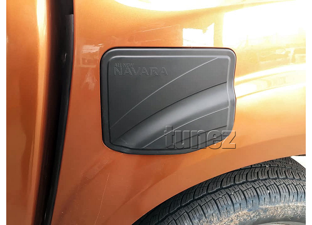 Matt Black Petrol Gas Fuel Tank Door Cap Cover For Nissan Navara NP300 D23 Tunez