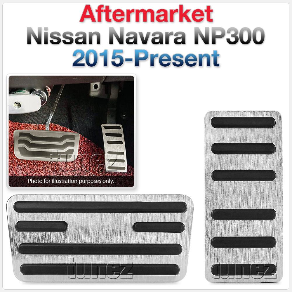 Aluminium Non Slip Sport Pedal Brake Pad Black Cover For Nissan Navara NP300 D23