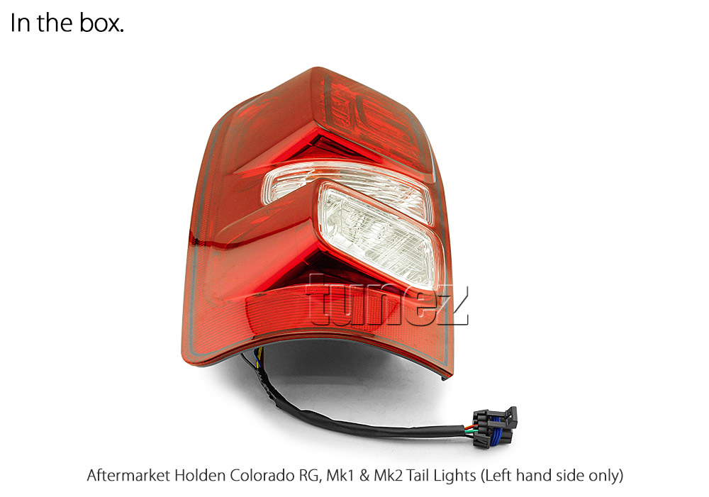 RLHC01 Holden Colorado Chevrolet Chevy Colorado Trim 2nd Generation Gen RG 2012 2013 2014 2015 2016 2017 2018 2019 2020 LT LTZ LS LSX Z71 Replacement OEM Standard Original Replace A Pair Set Left Right Side LH RH ABS Back Rear Tail Light Tail Lamp Head Taillights LED Bulb Type Aftermarket