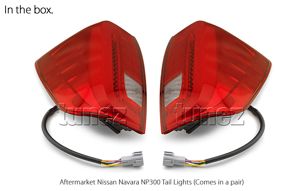 RLNP02P Nissan Navara NP300 NP 300 D23 Series DX RX ST ST-X SL Visia Acenta Acenta+ N-Connecta Tekna Full COB LED Replacement OEM Standard Original Replace A Pair Set Left Right Side Lamp Red Edition ABS Front Back Rear Tail Light Tail Lamp Head Light Headlight Taillights Turn Signal Indicators UK United Kingdom USA Australia Europe Set Kit For Truck Pickup Car Aftermarket 2015 2016 2017 2018 2019 2020