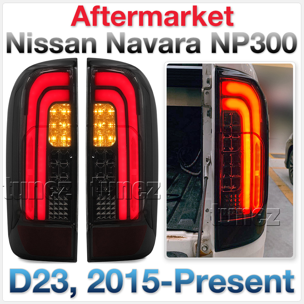 Smoked MBX LED Tail Rear Lamp Lights For Nissan Navara NP300 D23 2015-2019 X OZ