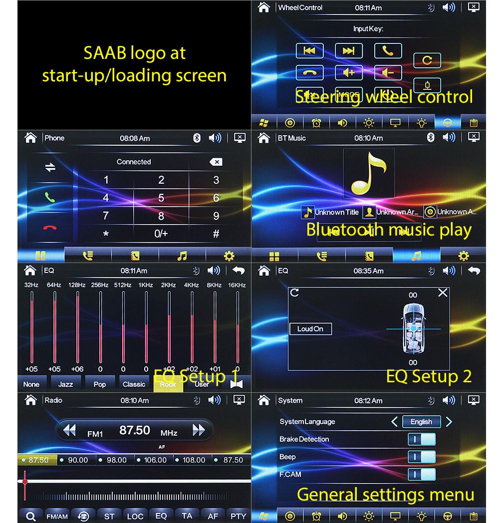 Saab 9 3 93 Car Dvd Player Stereo Radio Mp3 Head Unit Usb Fascia Wire Harness Saab07dvd Year 2007 2008 2009 2010 2011 2012 2013 2014
