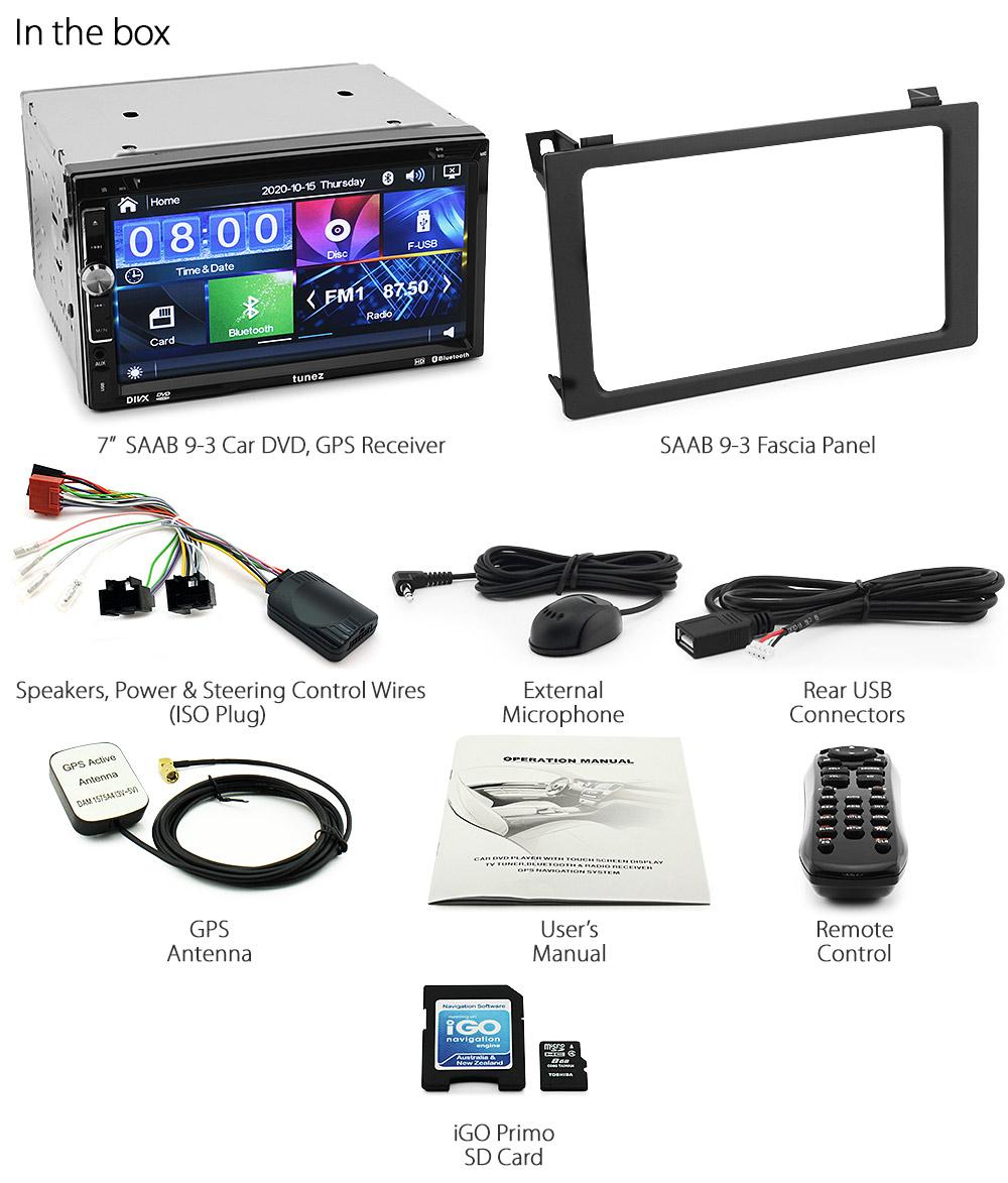 Saab       9      3    93 Car GPS DVD Player    Stereo       Radio    MP3 Head Unit