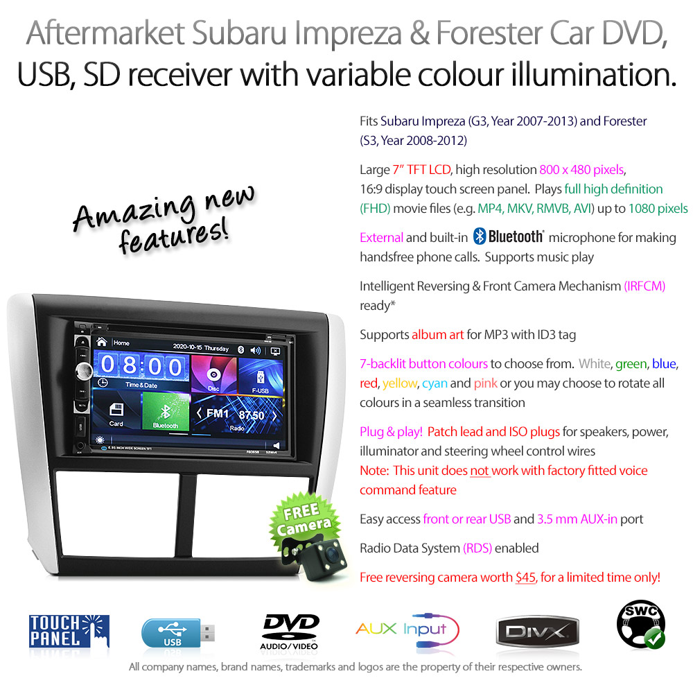 Car Dvd Player Subaru Impreza Forester Stereo Radio Cd Usb
