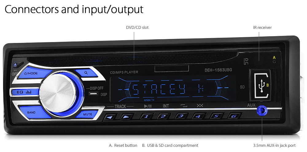 Ford Focus Transit Car Cd Usb Player Fm Radio Fascia