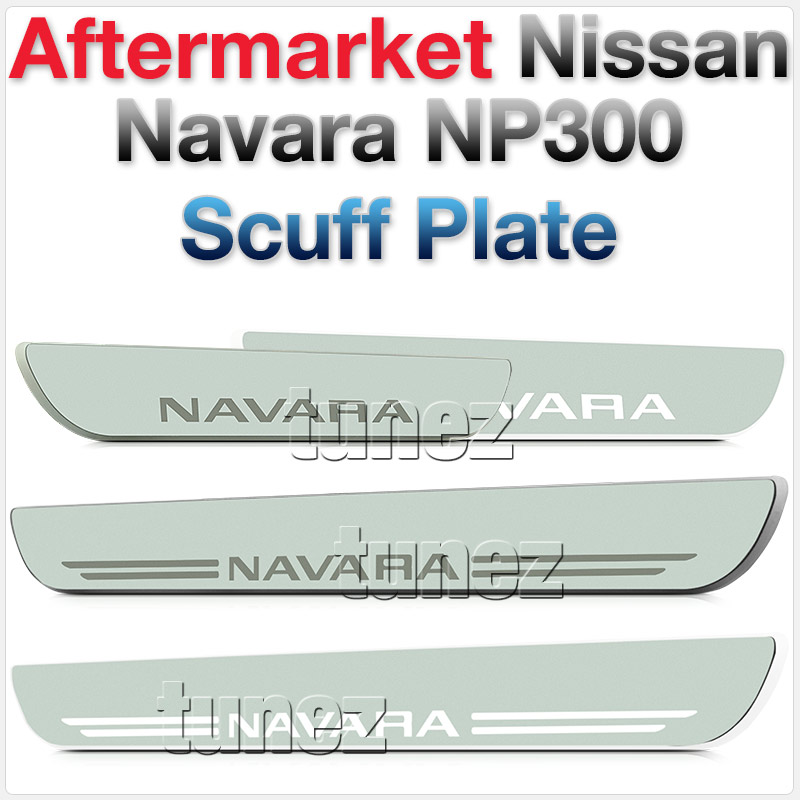White LED Light Scuff Plate Door Sill Kick Side Step Nissan Navara NP300 D23 OZ