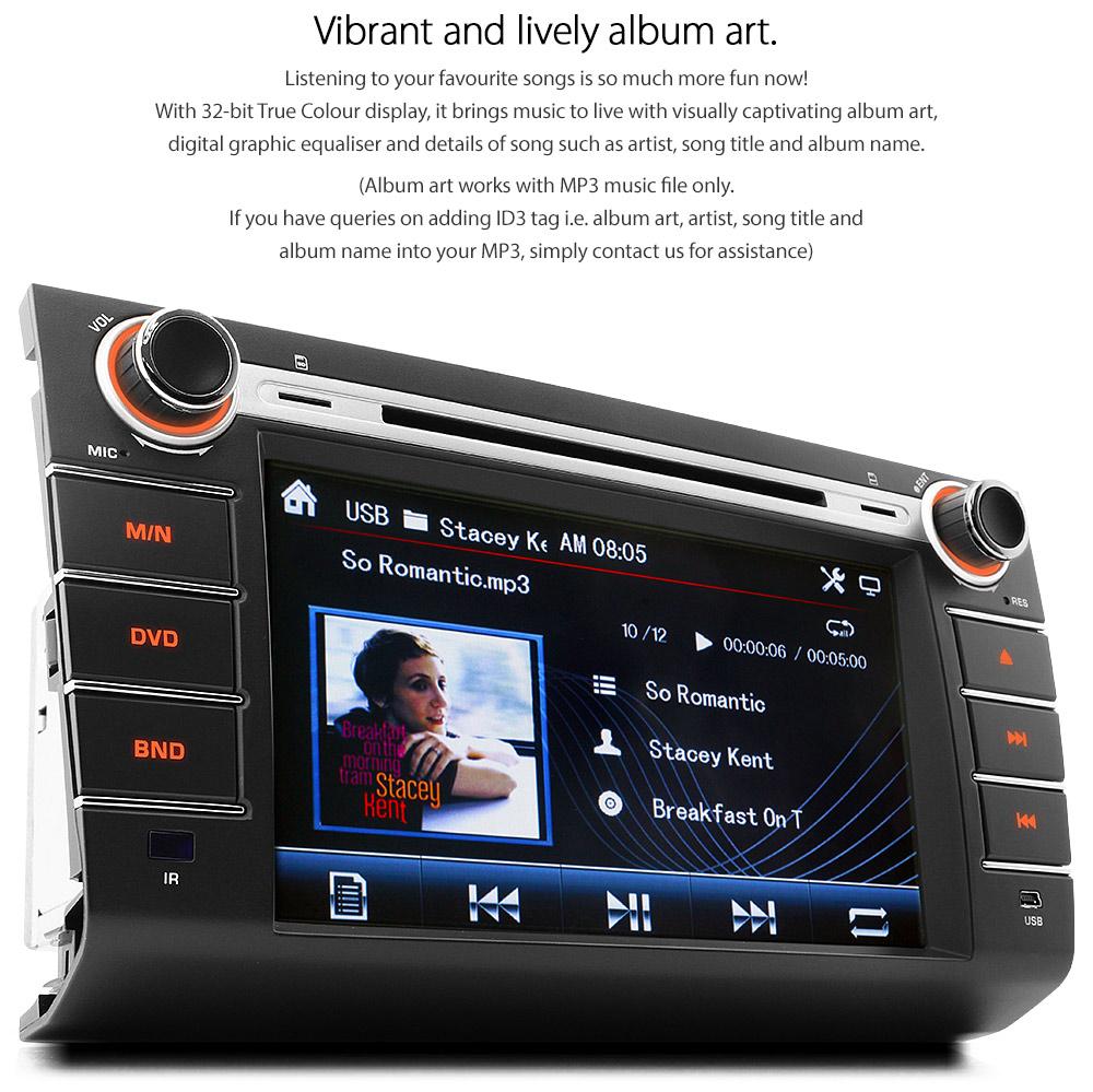8 U0026quot  Suzuki Swift Dvd Gps Player Tv Sat Nav Head Unit Radio Car Dvb
