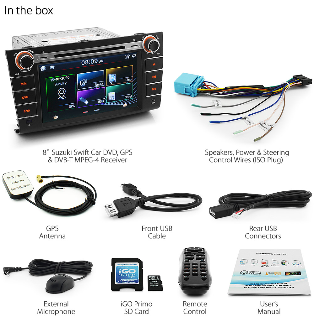 Dual Head Unit Wiring Harness : Quot suzuki swift car dvd player gps sat nav head unit