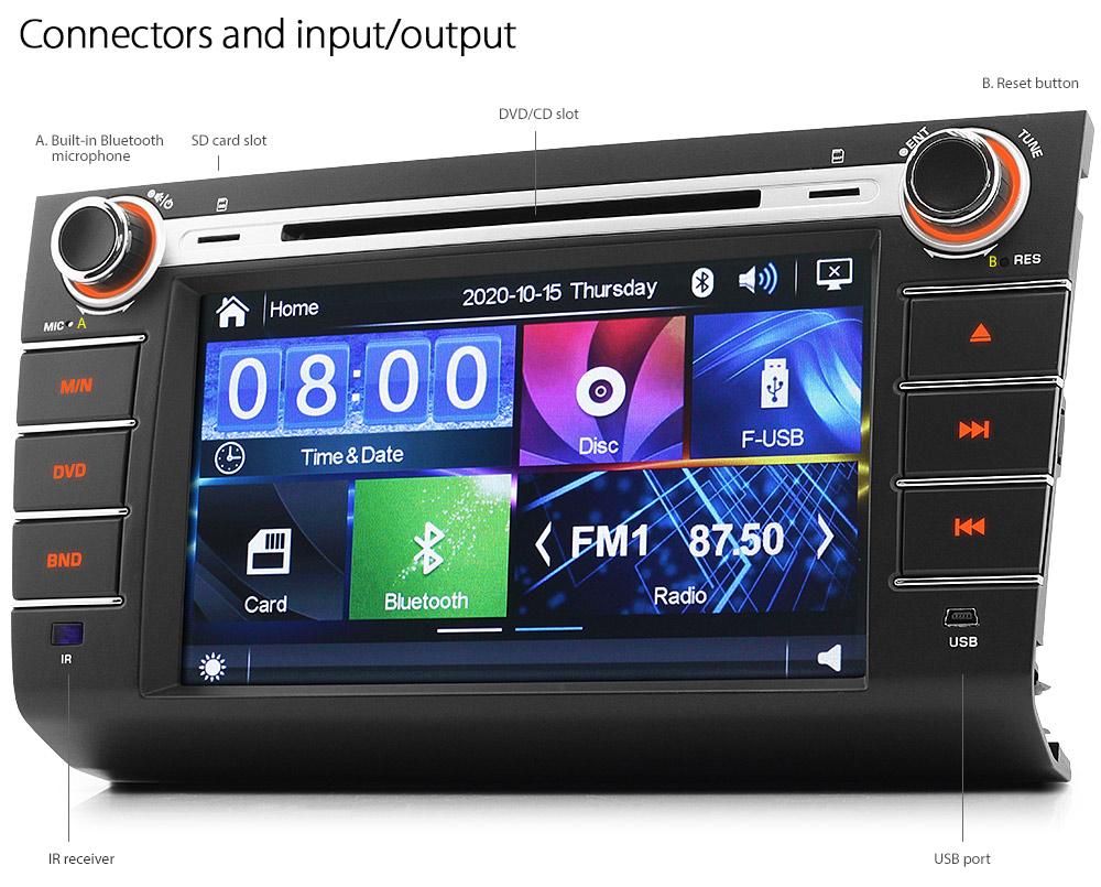 8 U0026quot  Car Dvd Mp3 Player For Suzuki Swift Rs 415 Usb Mp4 Cd