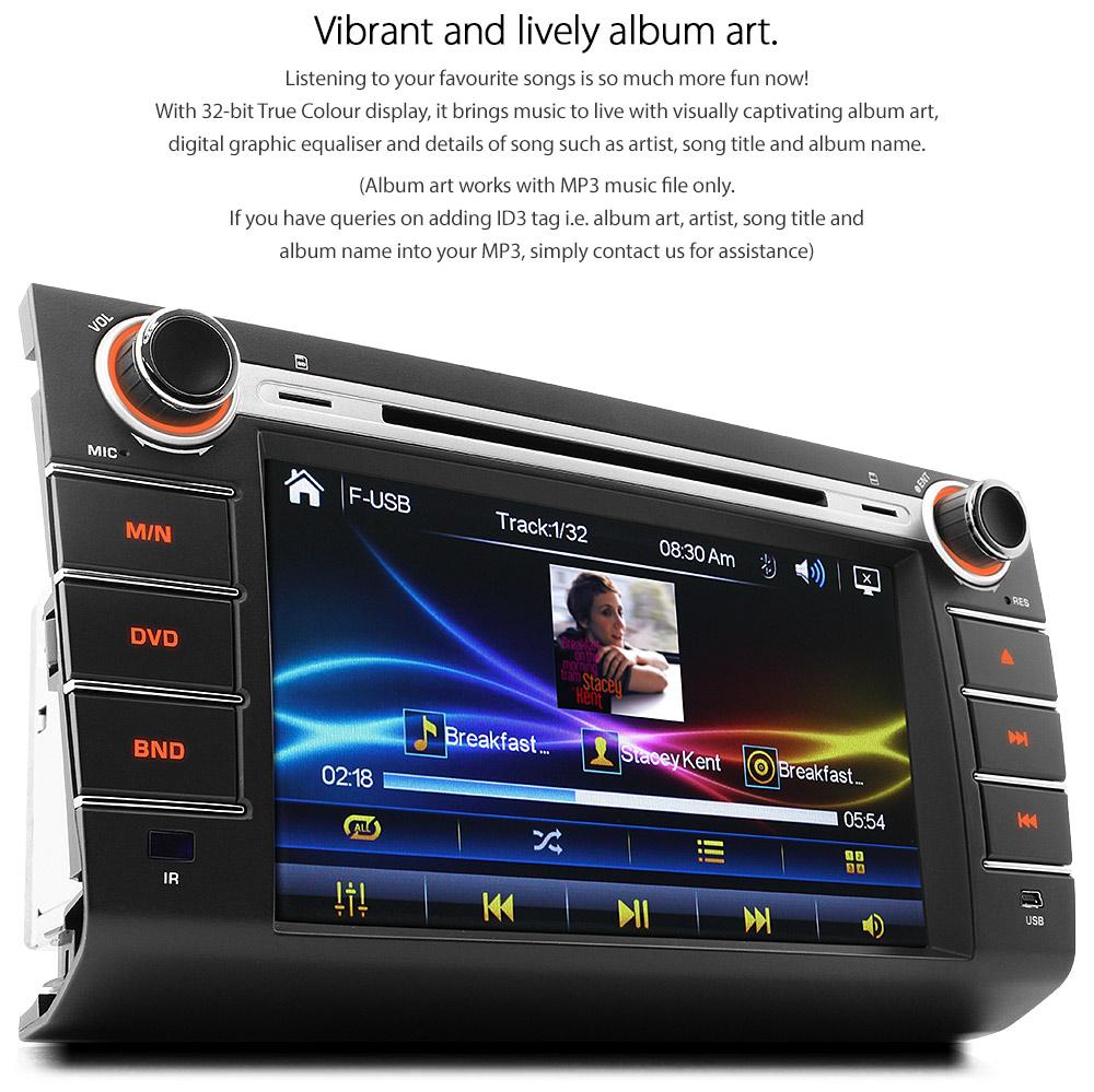 8 U0026quot  Car Dvd Mp3 Player For Suzuki Swift Rs 415 Usb Cd Head