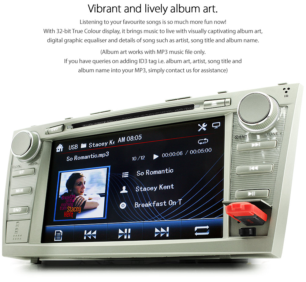 Car Dvd Gps Player Stereo Usb For Toyota Aurion Camry Altise At