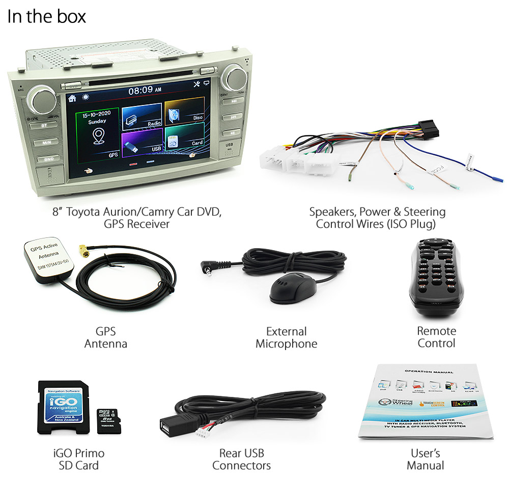 Car Dvd Gps Player Stereo Usb For Toyota Aurion Camry