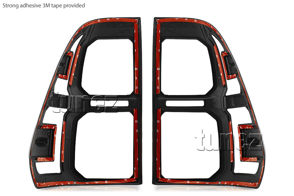 Front Tail Rear Light Lamp Cover For Toyota Hilux 2016 2017 2018 ABS Black Set Z