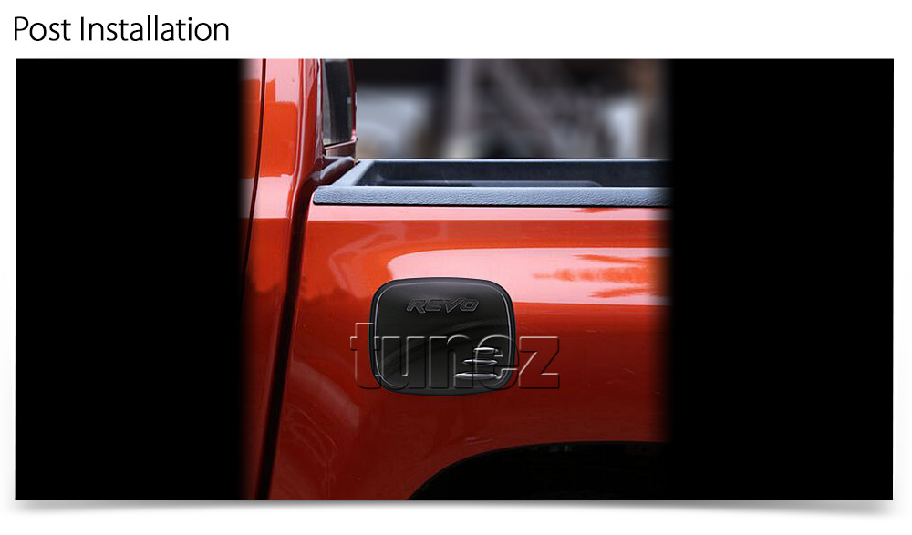 Matte Matt Black Fuel Petrol Gas Tank Door Cover For Toyota Hilux TRD GUN1 GUN O