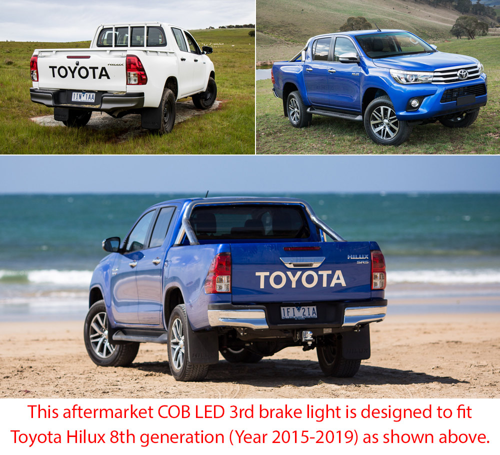 LED Tailgate 3rd Third Brake Lamp Light New Toyota Hilux GUN GUN1 Truck Car OZ