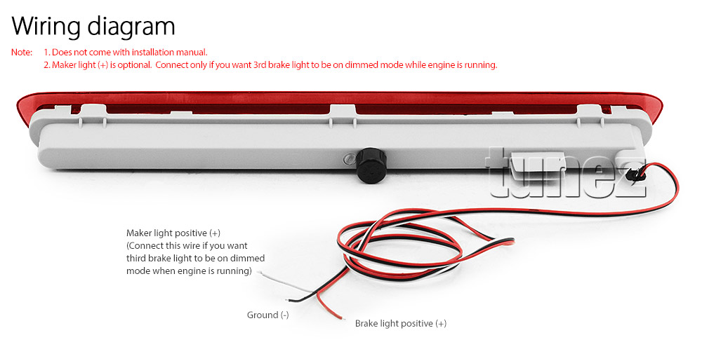 Tailgate 3rd Brake Light Led Toyota Hilux An120 An130 Sr Sr5 Workmate Third Tu 769572712055