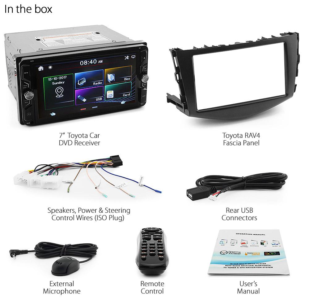 7 U0026quot  Toyota Rav4 Car Dvd Cd Usb Mp3 Mp4 Player Sd Radio