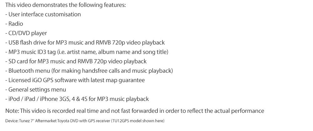 7 car dvd gps player for toyota rav4 stereo radio sat nav. Black Bedroom Furniture Sets. Home Design Ideas