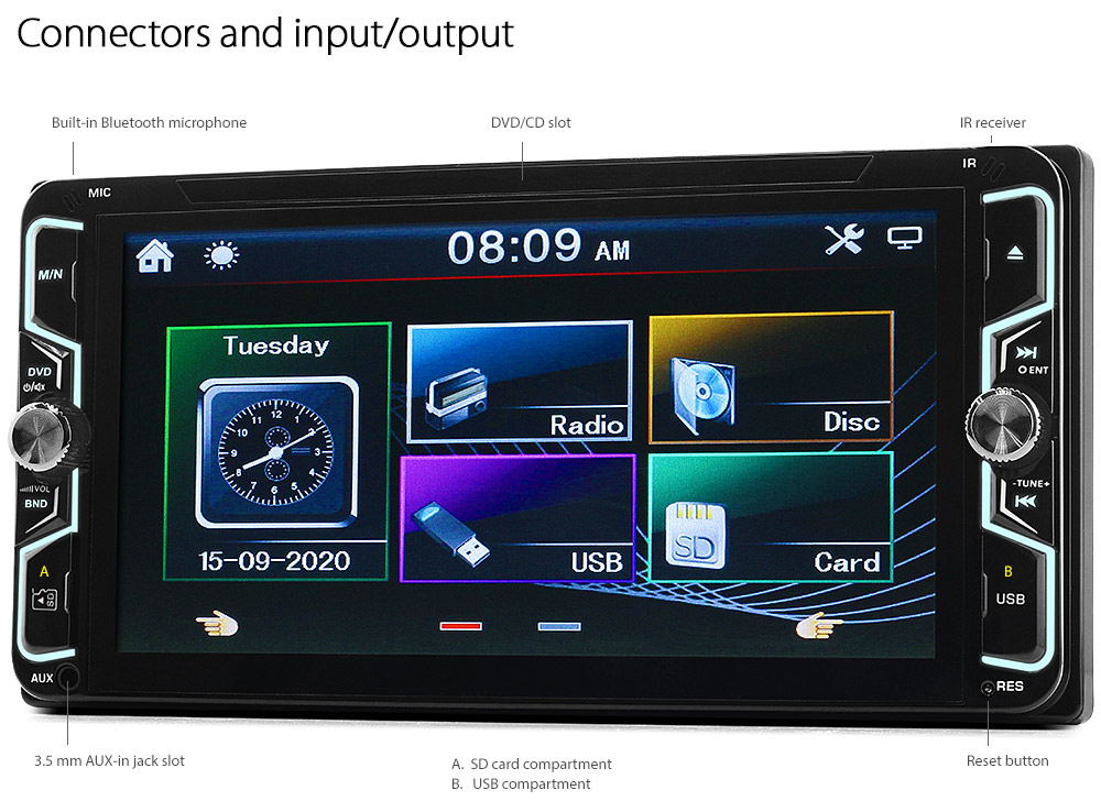 Car Dvd Player For Toyota Hilux Corolla Land Cruiser Prado