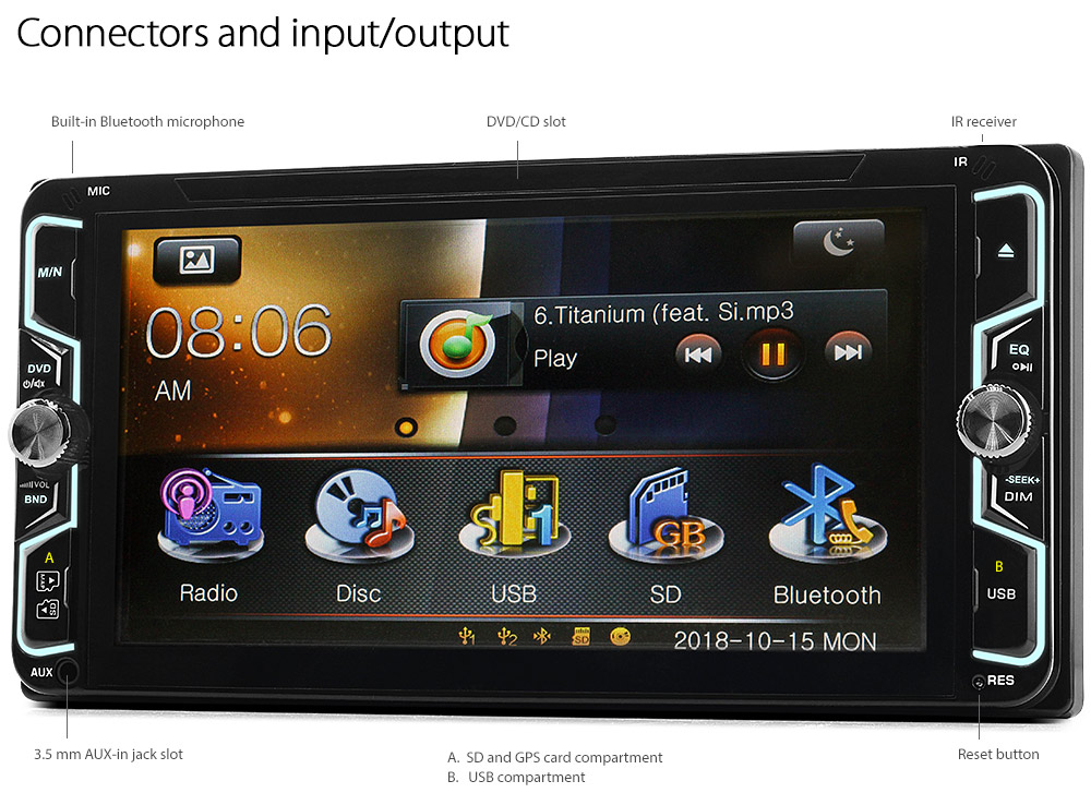7 U0026quot  Toyota Avensis T270 Car Dvd Gps Player Sat Nav Head Unit Radio Stereo Usb Gt