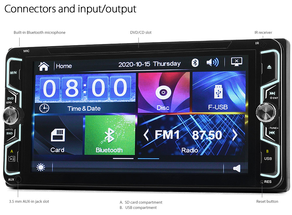Toyota Rav4 Mr2 Gt 86 Previa Car Dvd Mp3 Player Head Unit