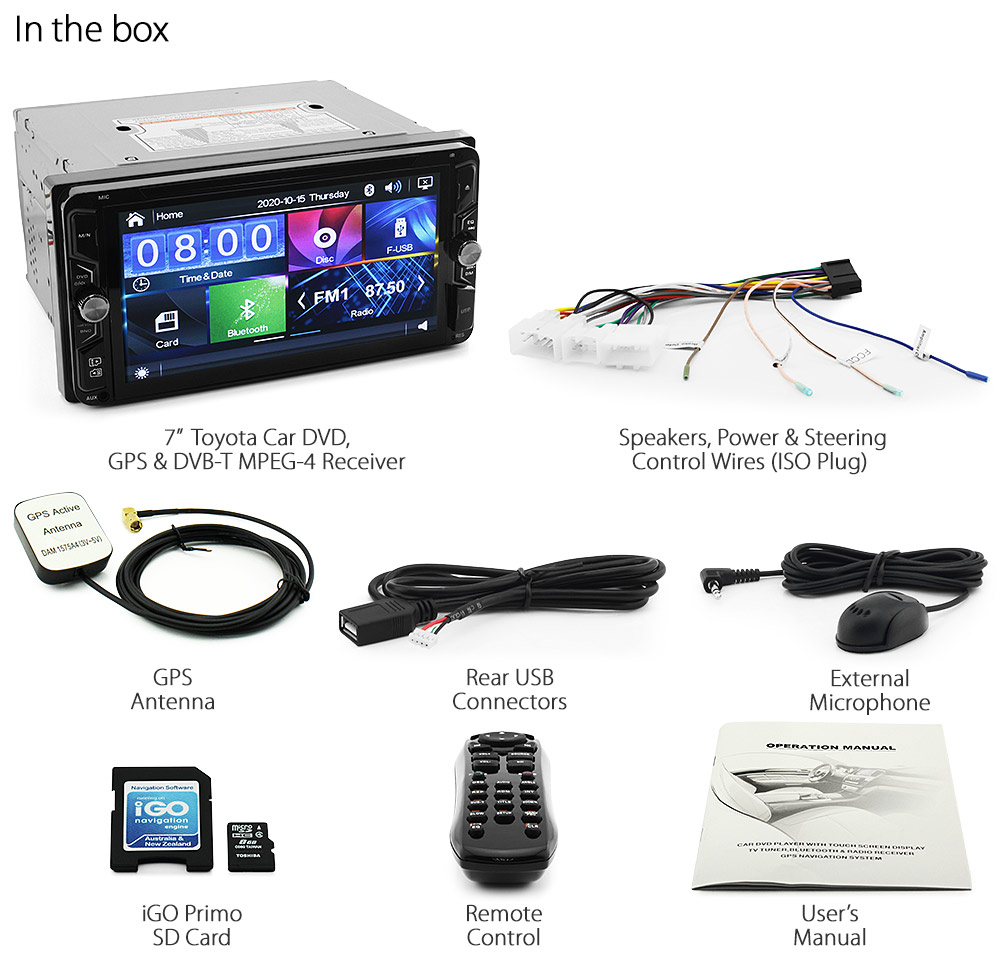 7 U0026quot  Toyota Cd Dvd Player Dvb