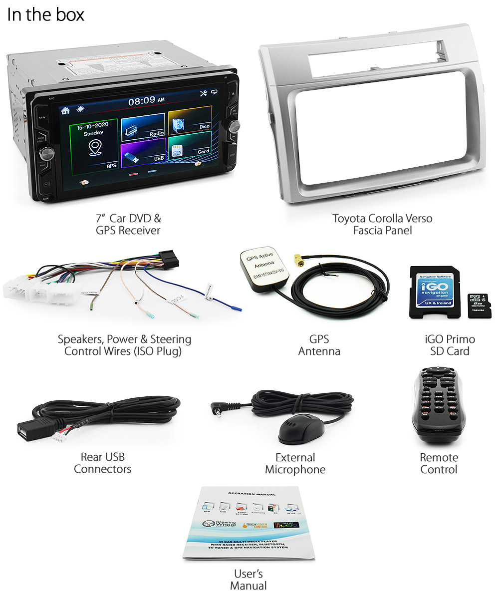 7 Toyota Corolla Verso Car Gps Dvd Player Head Unit Radio Stereo Consumer Electronics Gt Vehicle Units See Tvr07gps 3rd Generation Year 2004 2005 2006 2007 2008 Inch Latest