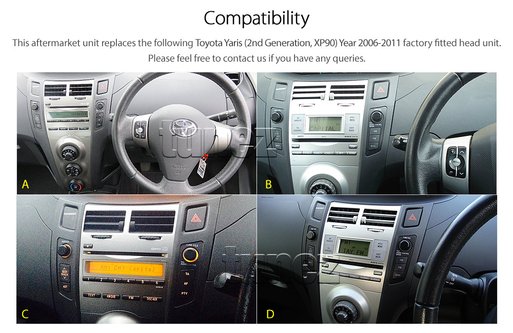 Car Dvd Mp3 Player Usb Radio For Toyota Yaris 2010 2011