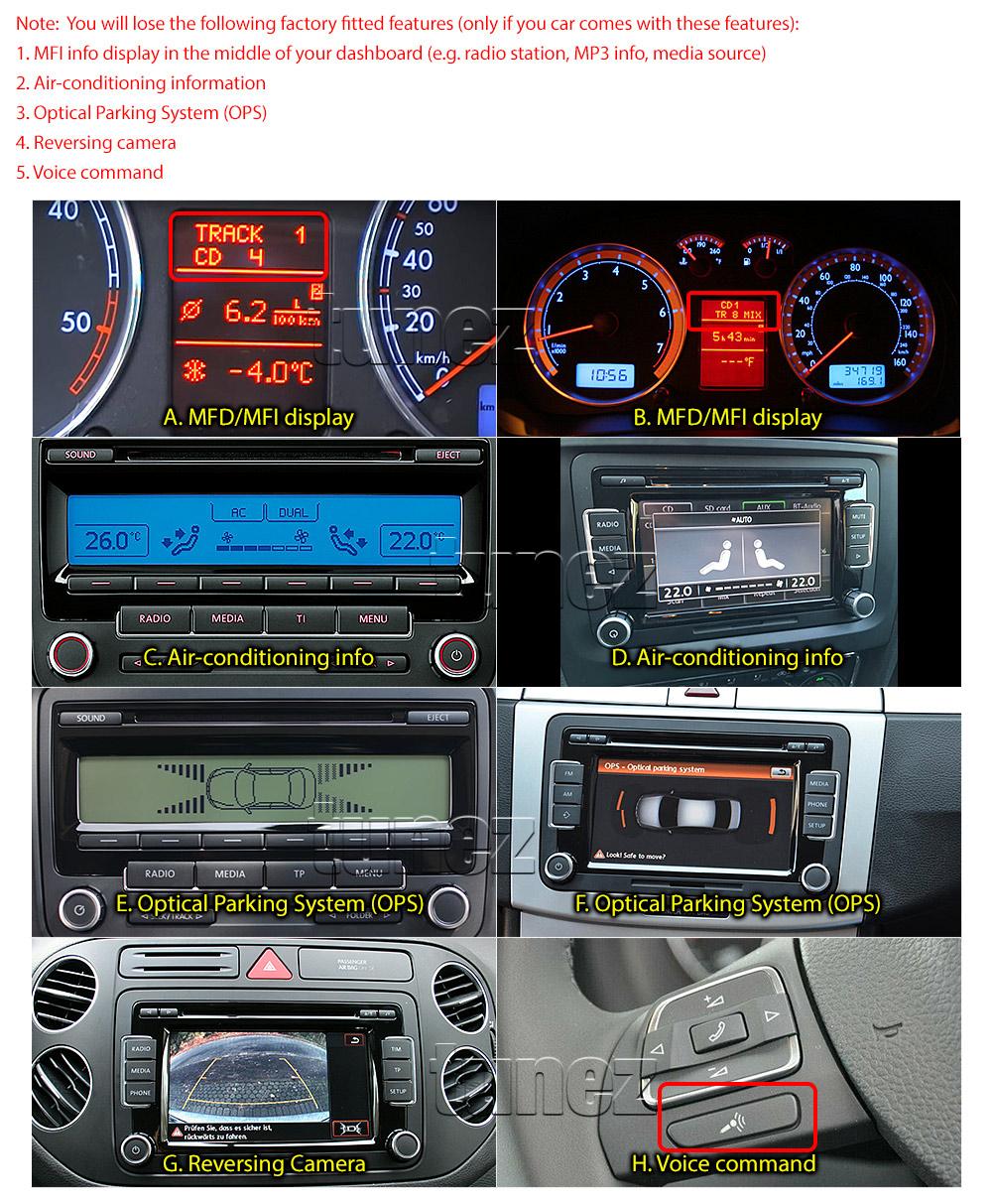 Car Gps Dvd Mp3 Player Volkswagen Amarok Golf Polo Stereo