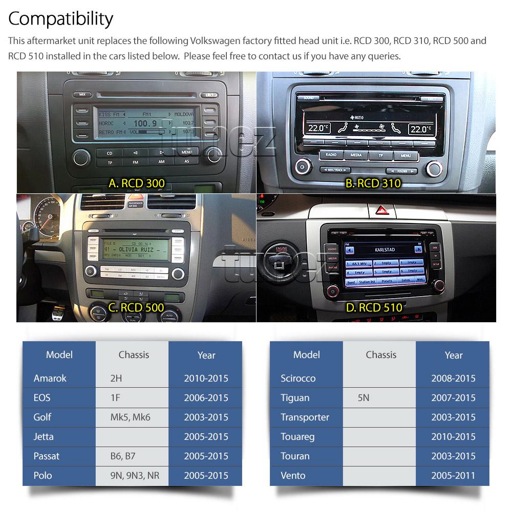 Volkswagen Vw Car Gps Dvd Mp3 Player Head Unit Stereo Mp4