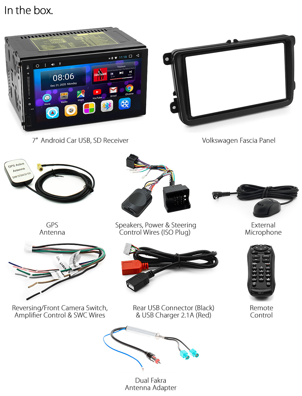 Android Car Mp3 Player Volkswagen Vw Golf Polo Caddy